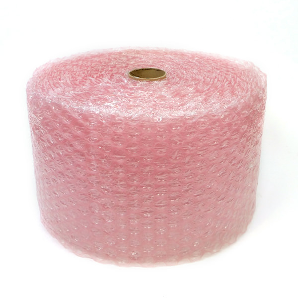 moving supplies pink bubble wrap